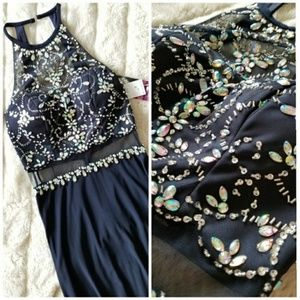 🍒NWT🍒 BLONDIE NITES NAVY SPECIAL OCCASION DRESS